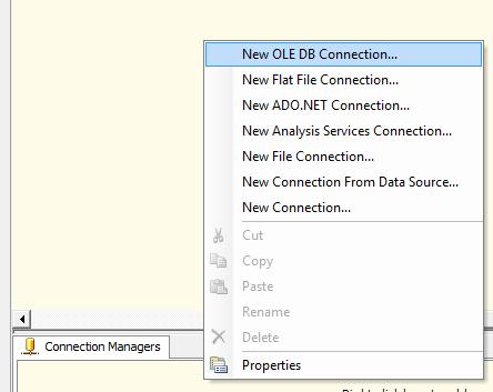 New OLEDB Connection in SSIS