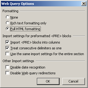 Excel Web Queries - Hacking them to Automate your work