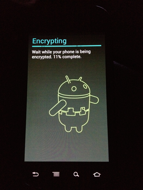 Full Device Encryption On Android 4 0 Ben Sullins Data