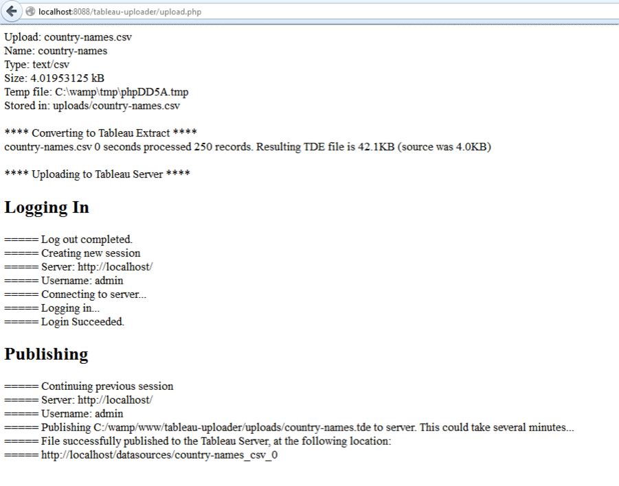 Tableau Server Upload Utility - Ben Sullins | Data Geek